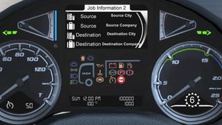 Daf XF Euro 6 ETS2 Smartphone Dashboard