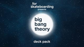 "_for skateboarding ""big bang theory"" deck pack"