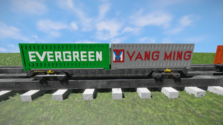 Freight Vagon container-2 V2