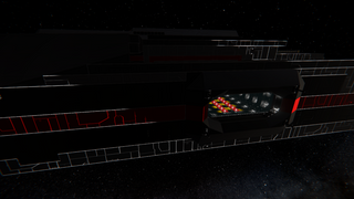 Unfinished command ship (modded)