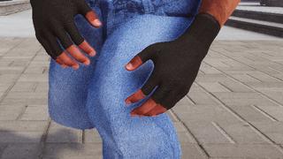Fingerless glove texture
